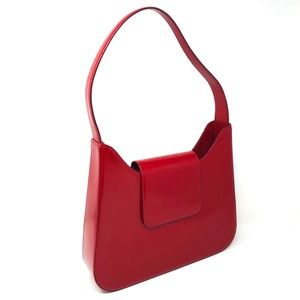 LANCEL red leather purse made in France